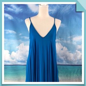 Other - Swim Coverup in flowing Caribbean Blue Size S